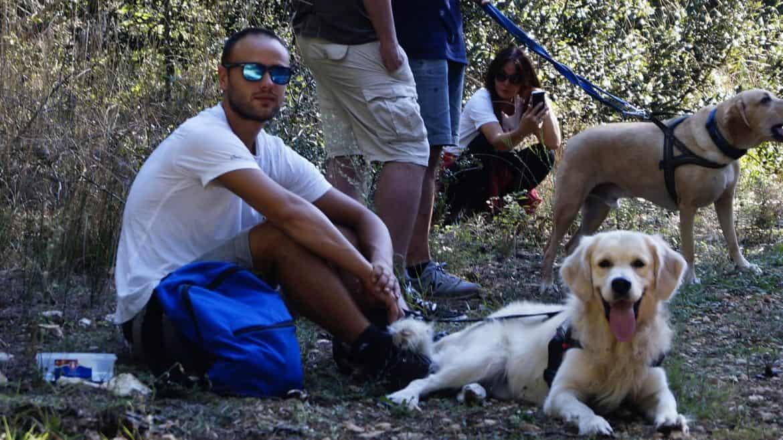 dog trekking in Puglia